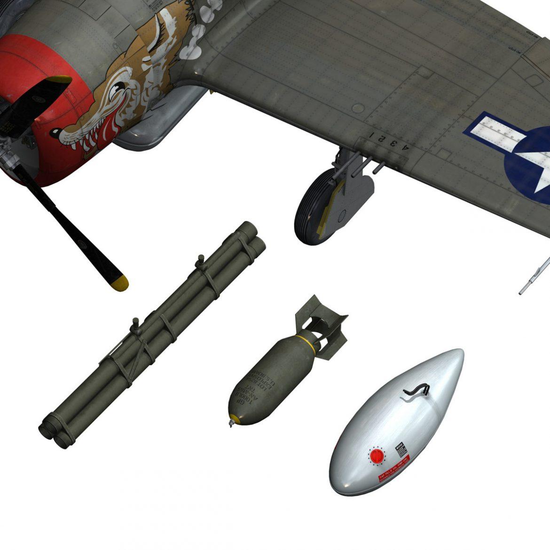 republic p-47d thunderbolt – whoo… 3d model fbx c4d lwo obj 299871