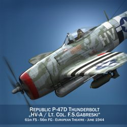 republic p-47d thunderbolt – lt.col. f.s.gabreski 3d model fbx c4d lwo obj 299881