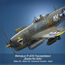 republic p-47d thunderbolt – sigma nu girl 3d model fbx c4d lwo obj 299907
