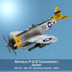 republic p-47d thunderbolt – eileen 3d model 3ds fbx c4d lwo obj 299934