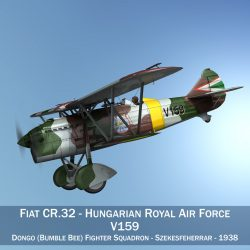 fiat cr.32 – hungarian royal air force – v159 3d model fbx c4d lwo obj 299959