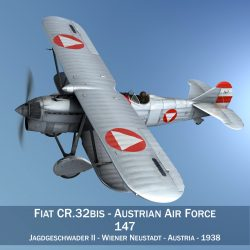 fiat cr.32 – austrian air force jagdgeschwader ii 3d model fbx c4d lwo obj 299993
