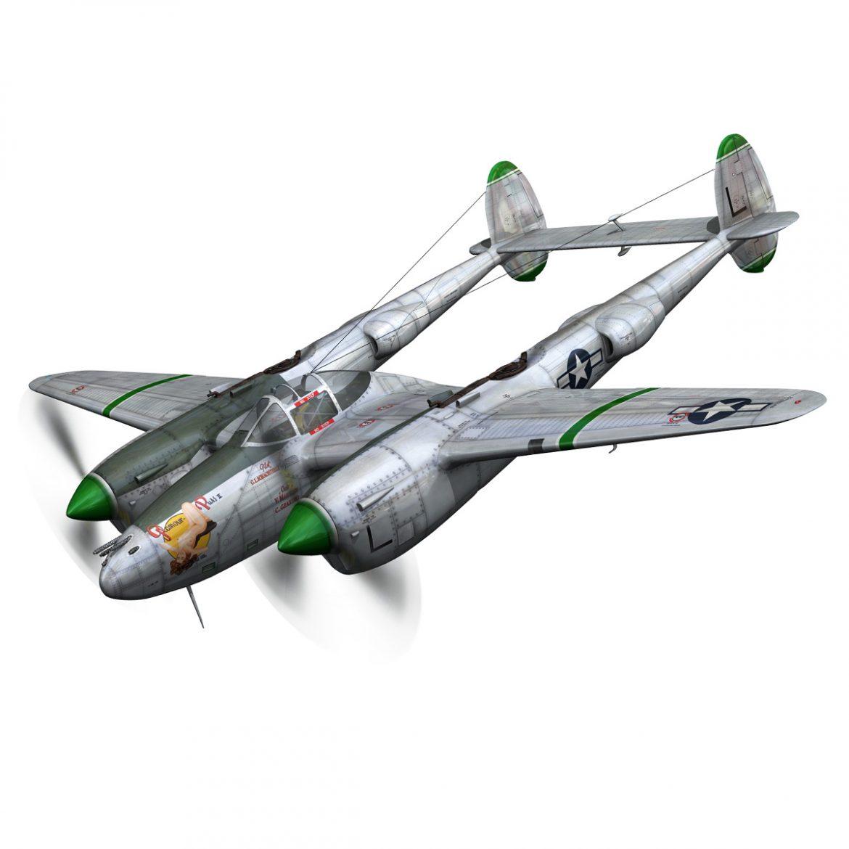 lockheed p-38 lightning – glamour puss ii 3d model fbx c4d lwo obj 300052