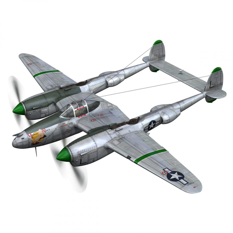 lockheed p-38 lightning – glamour puss ii 3d model fbx c4d lwo obj 300054
