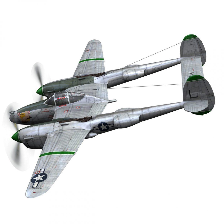 lockheed p-38 lightning – glamour puss ii 3d model fbx c4d lwo obj 300055