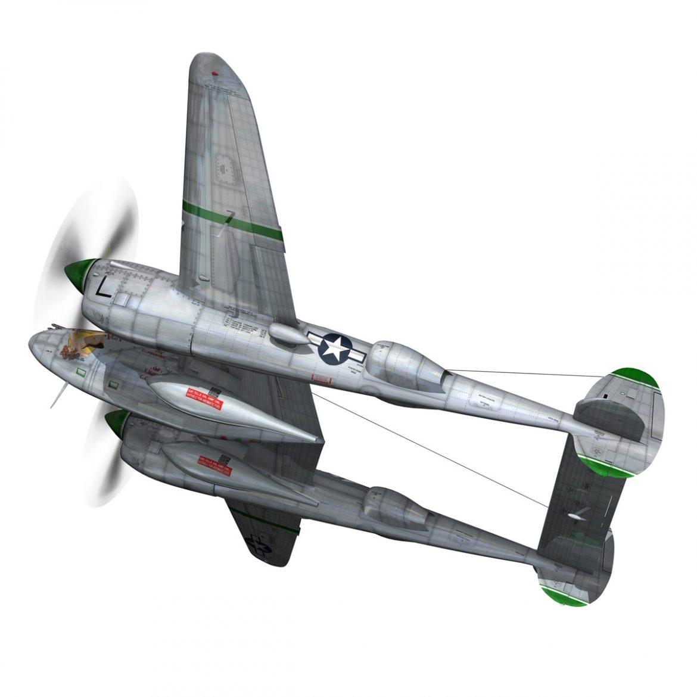 lockheed p-38 lightning – glamour puss ii 3d model fbx c4d lwo obj 300056