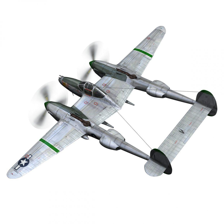 lockheed p-38 lightning – glamour puss ii 3d model fbx c4d lwo obj 300057