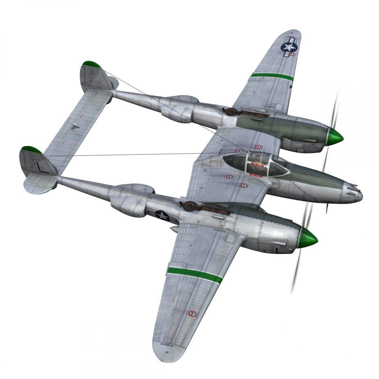 lockheed p-38 lightning – glamour puss ii 3d model fbx c4d lwo obj 300059