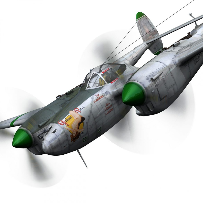 lockheed p-38 lightning – glamour puss ii 3d model fbx c4d lwo obj 300061