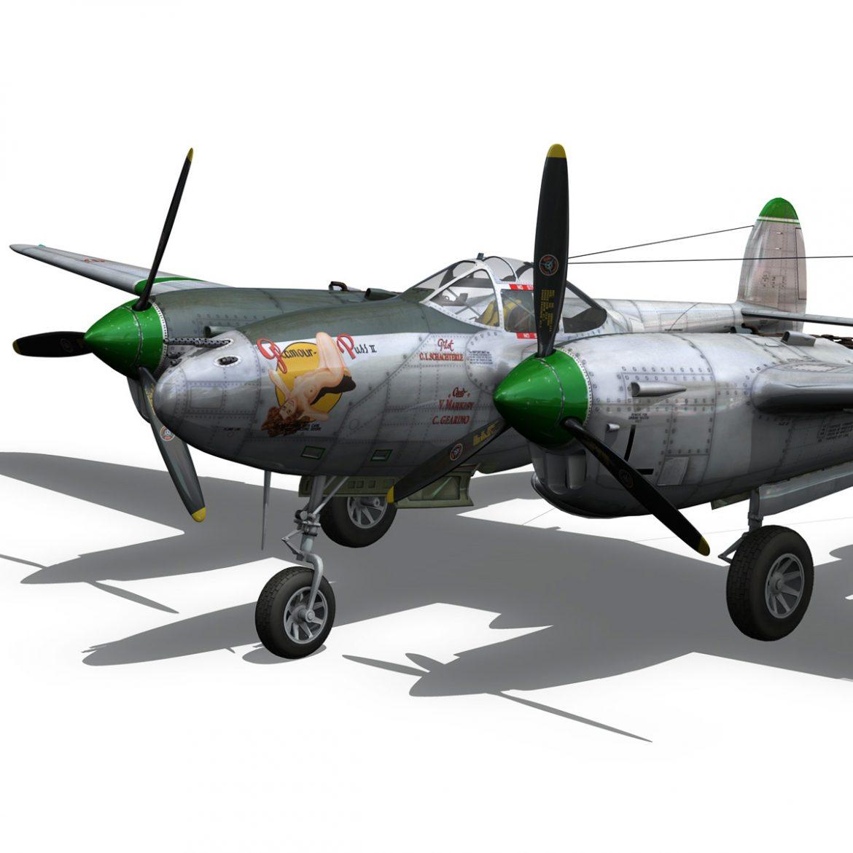lockheed p-38 lightning – glamour puss ii 3d model fbx c4d lwo obj 300062