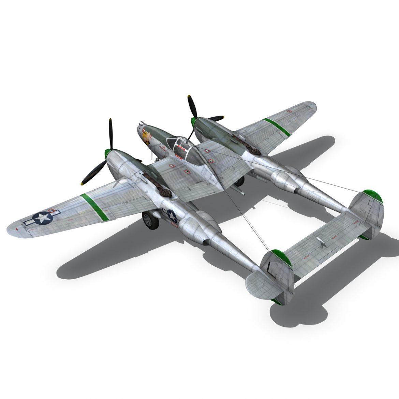 lockheed p-38 lightning – glamour puss ii 3d model fbx c4d lwo obj 300064