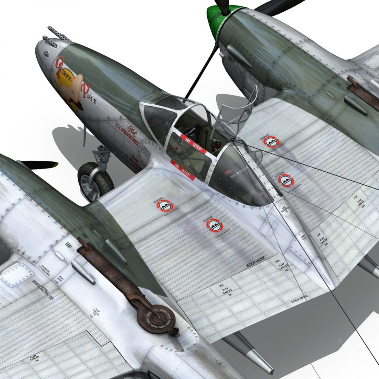lockheed p-38 lightning – glamour puss ii 3d model fbx c4d lwo obj 300068