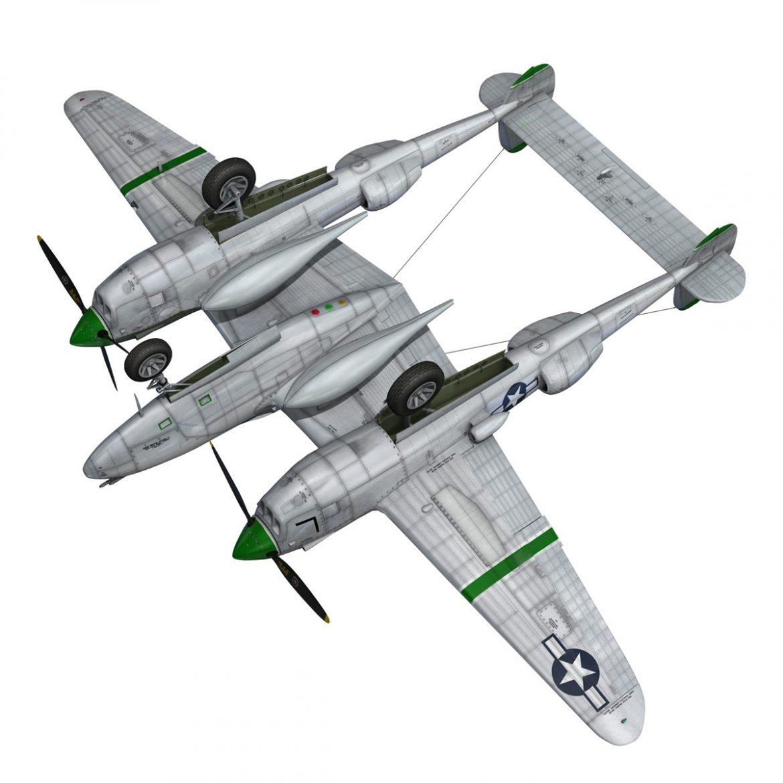 lockheed p-38 lightning – glamour puss ii 3d model fbx c4d lwo obj 300069