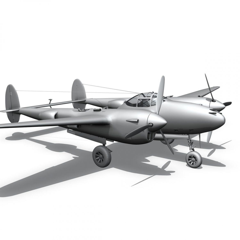 lockheed p-38 lightning – glamour puss ii 3d model fbx c4d lwo obj 300070