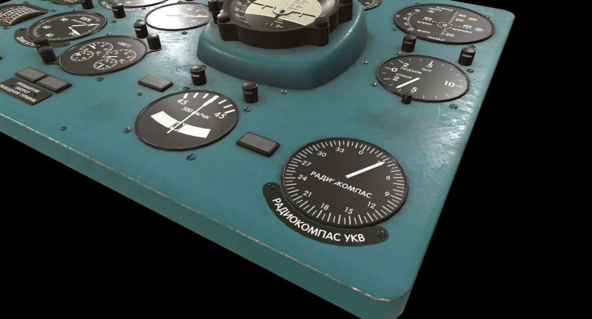 mi-8mt mi-17mt left panels board russian 3d model 3ds max fbx obj 300196