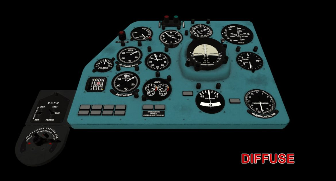mi-8mt mi-17mt left panels board russian 3d model 3ds max fbx obj 300211