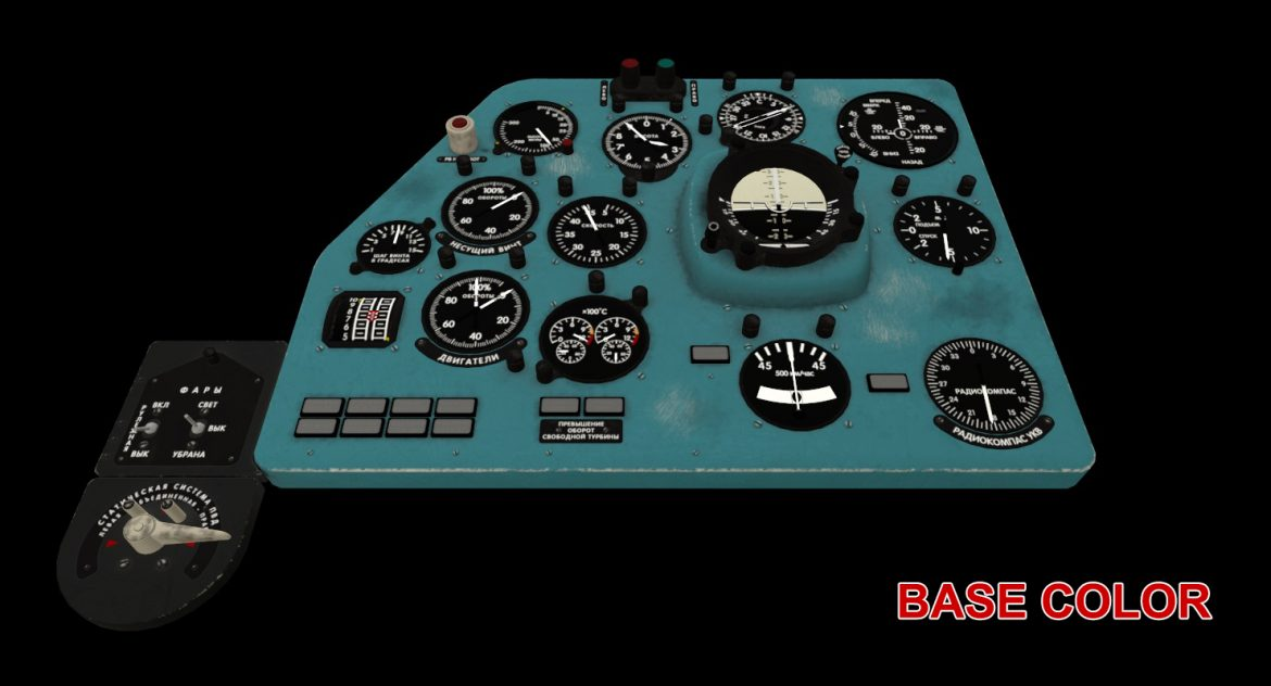 mi-8mt mi-17mt left panels board russian 3d model 3ds max fbx obj 300214