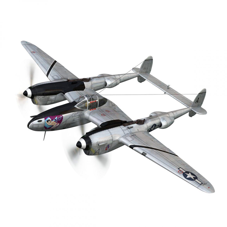 lockheed p-38 lightning – vagrant virgin 3d model fbx c4d lwo obj 300241