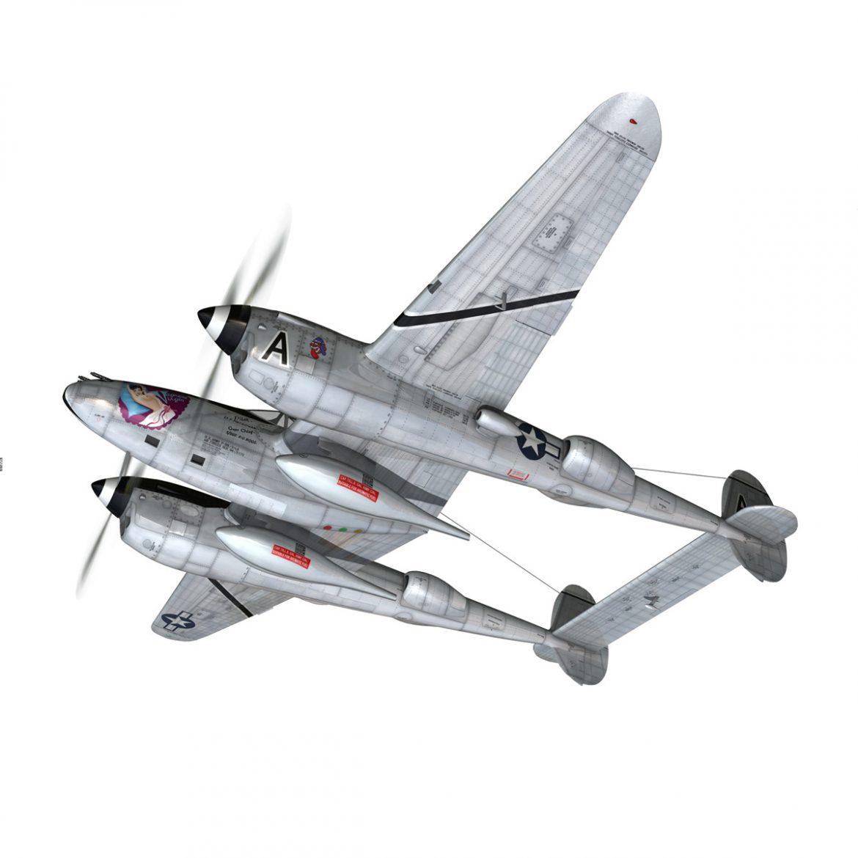 lockheed p-38 lightning – vagrant virgin 3d model fbx c4d lwo obj 300242