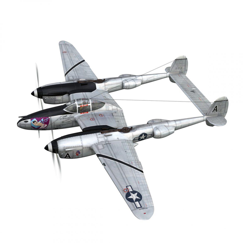 lockheed p-38 lightning – vagrant virgin 3d model fbx c4d lwo obj 300243