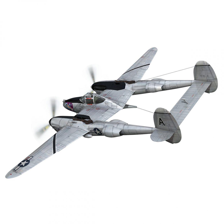 lockheed p-38 lightning – vagrant virgin 3d model fbx c4d lwo obj 300244