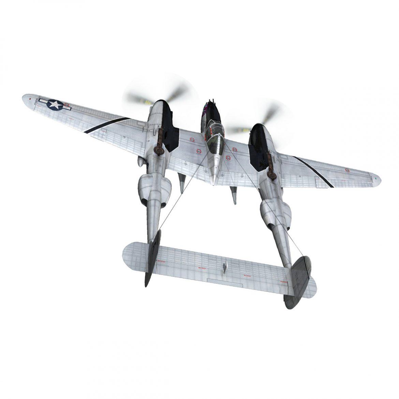 lockheed p-38 lightning – vagrant virgin 3d model fbx c4d lwo obj 300245