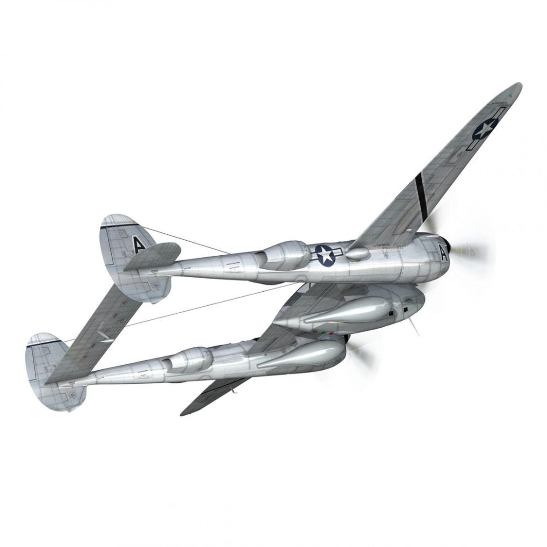 lockheed p-38 lightning – vagrant virgin 3d model fbx c4d lwo obj 300246