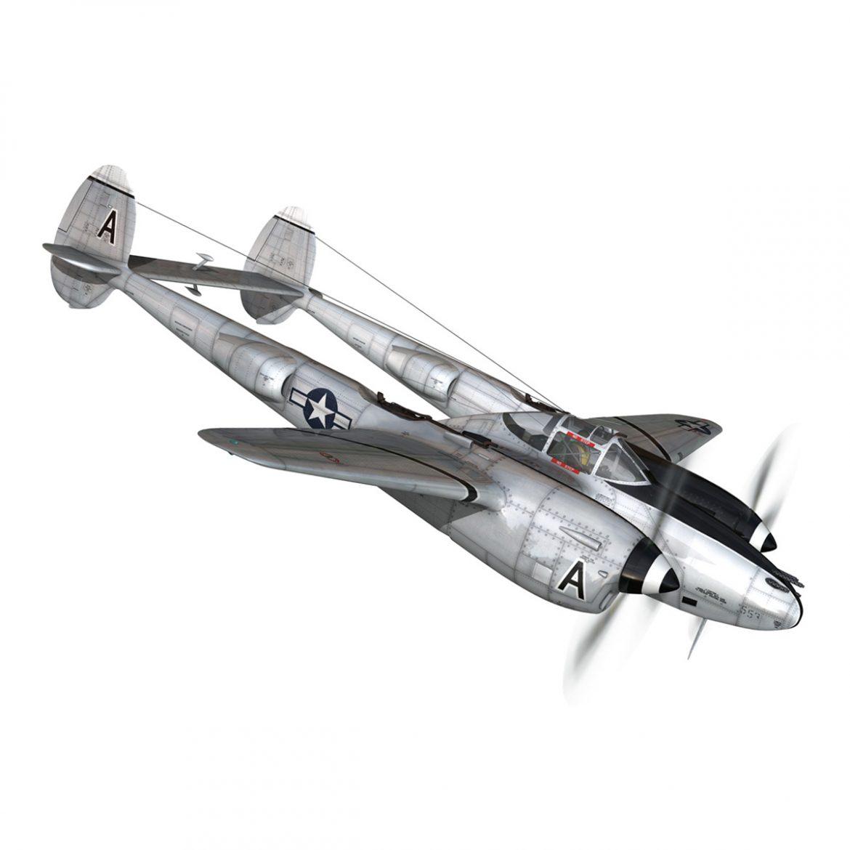 lockheed p-38 lightning – vagrant virgin 3d model fbx c4d lwo obj 300248