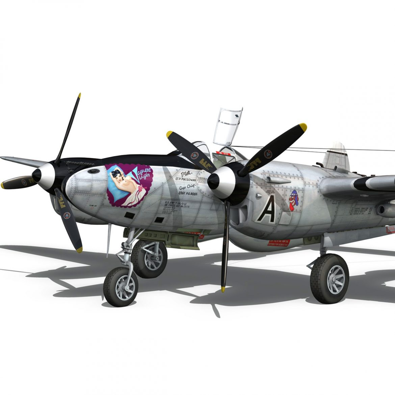 lockheed p-38 lightning – vagrant virgin 3d model fbx c4d lwo obj 300249