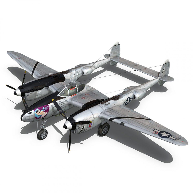 lockheed p-38 lightning – vagrant virgin 3d model fbx c4d lwo obj 300250