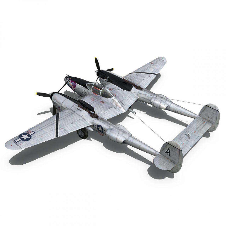 lockheed p-38 lightning – vagrant virgin 3d model fbx c4d lwo obj 300251