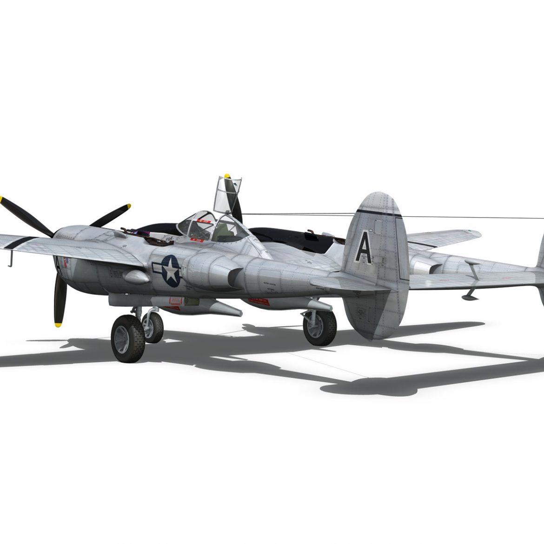 lockheed p-38 lightning – vagrant virgin 3d model fbx c4d lwo obj 300252
