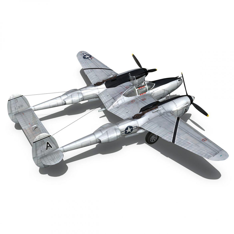 lockheed p-38 lightning – vagrant virgin 3d model fbx c4d lwo obj 300253