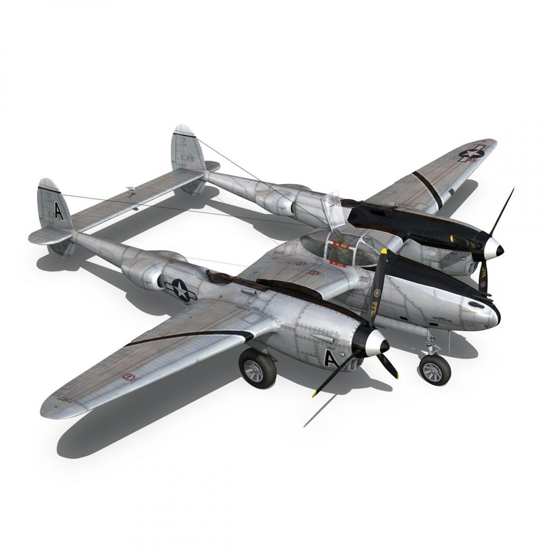 lockheed p-38 lightning – vagrant virgin 3d model fbx c4d lwo obj 300254