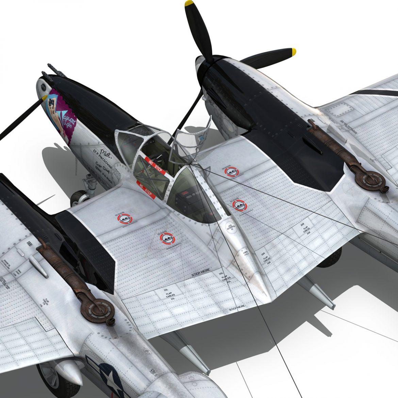 lockheed p-38 lightning – vagrant virgin 3d model fbx c4d lwo obj 300256