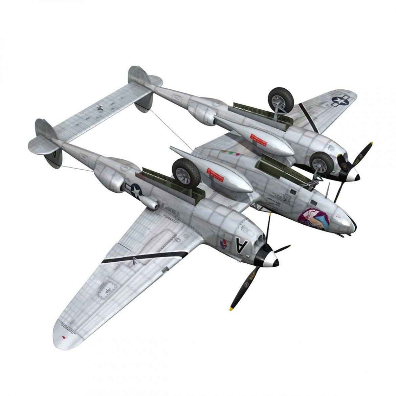 lockheed p-38 lightning – vagrant virgin 3d model fbx c4d lwo obj 300257