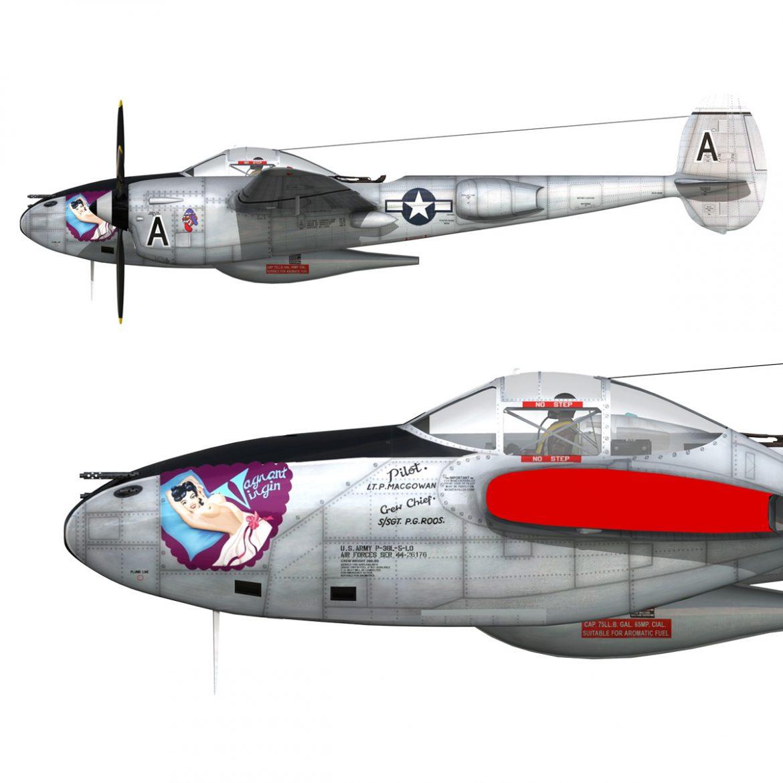 lockheed p-38 lightning – vagrant virgin 3d model fbx c4d lwo obj 300258