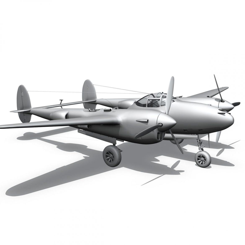 lockheed p-38 lightning – vagrant virgin 3d model fbx c4d lwo obj 300259