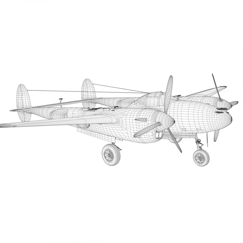 lockheed p-38 lightning – vagrant virgin 3d model fbx c4d lwo obj 300260