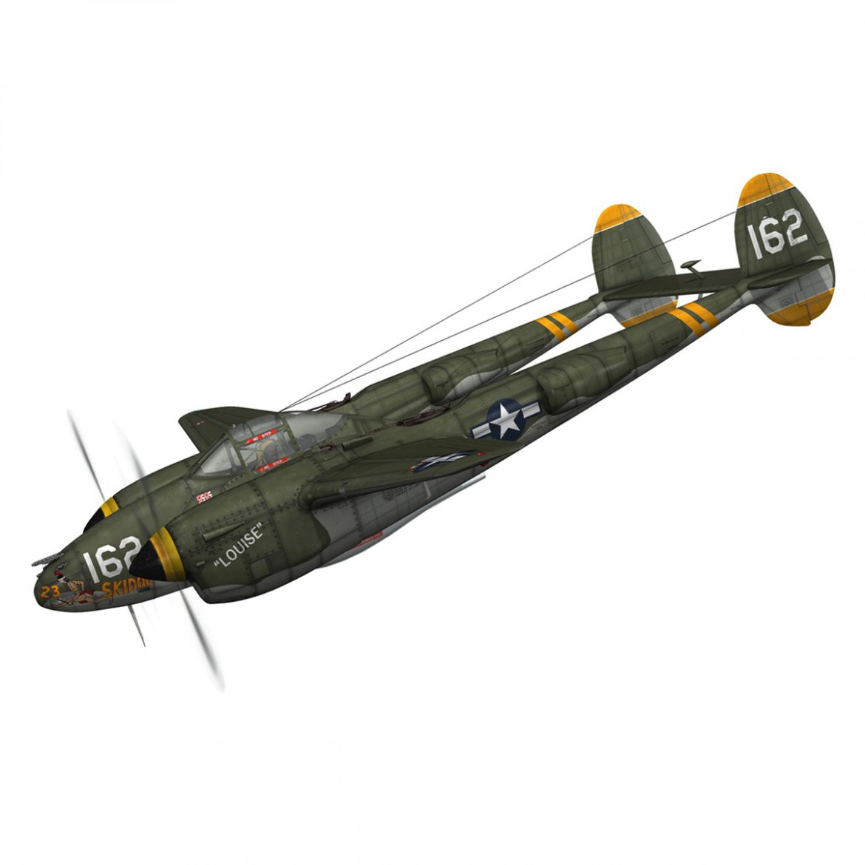 lockheed p-38 lightning – skidoo 3d model 3ds fbx c4d lwo obj 300270