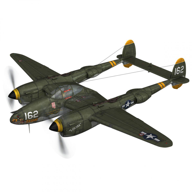 lockheed p-38 lightning – skidoo 3d model 3ds fbx c4d lwo obj 300271
