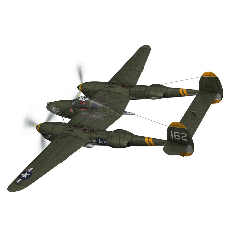 lockheed p-38 lightning – skidoo 3d model 3ds fbx c4d lwo obj 300272
