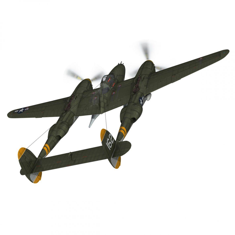lockheed p-38 lightning – skidoo 3d model 3ds fbx c4d lwo obj 300273