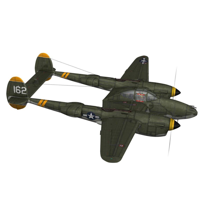 lockheed p-38 lightning – skidoo 3d model 3ds fbx c4d lwo obj 300275