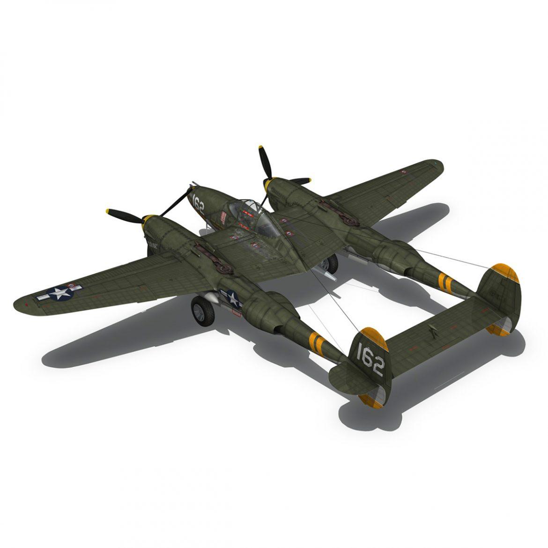 lockheed p-38 lightning – skidoo 3d model 3ds fbx c4d lwo obj 300280