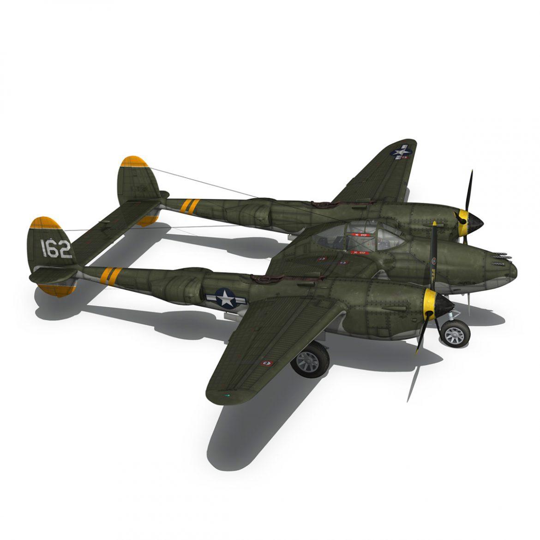 lockheed p-38 lightning – skidoo 3d model 3ds fbx c4d lwo obj 300283