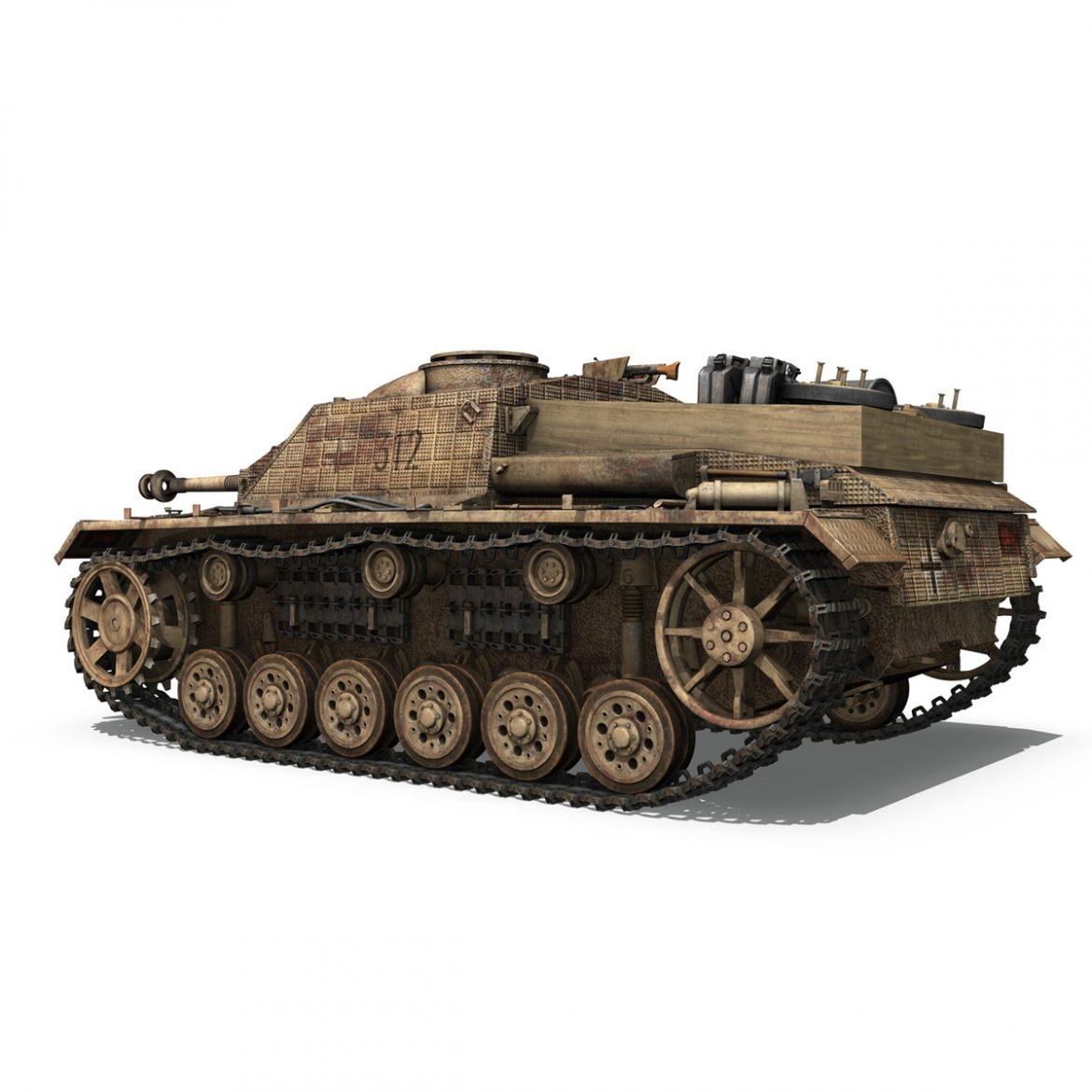 stug iii – ausf.g – 312 – mid production 3d model 3ds c4d lwo obj 300359