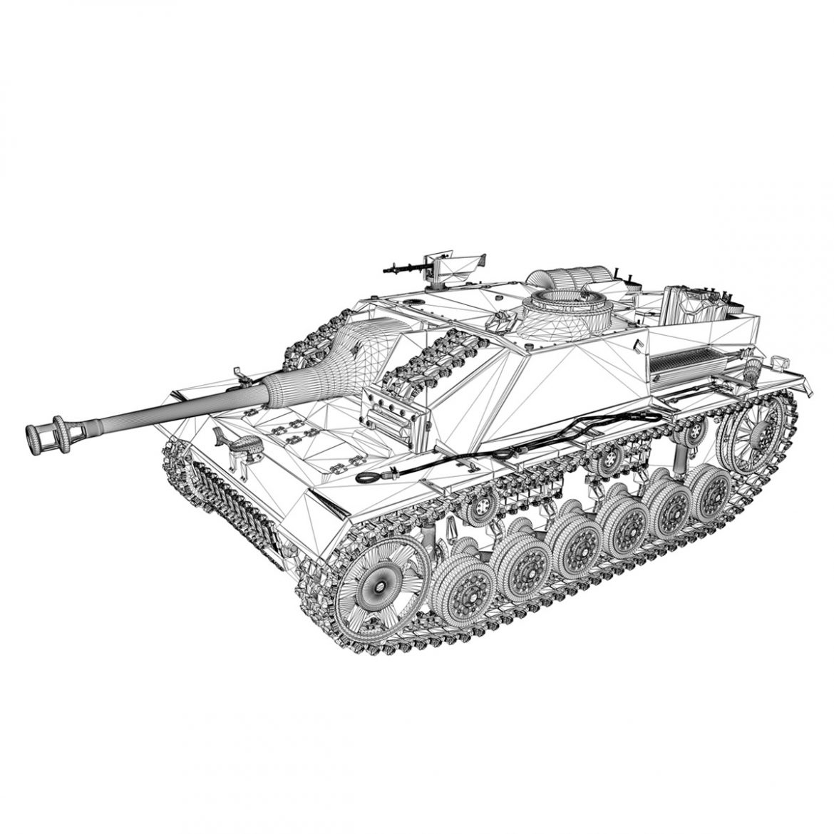 stug iii – ausf.g – 312 – mid production 3d model 3ds c4d lwo obj 300366