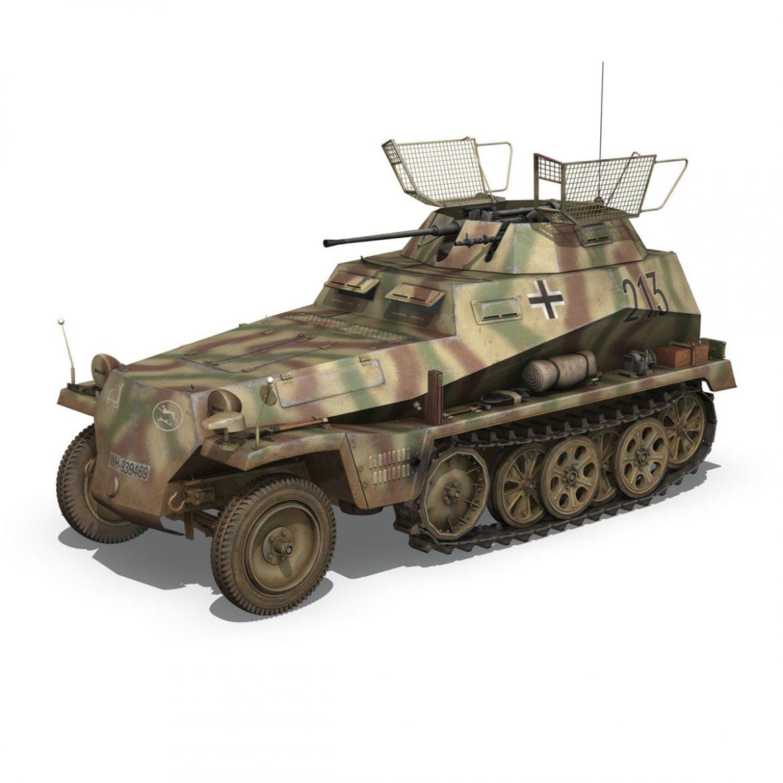 sd.kfz 250/9 – reconnaissance halftruck – 116pzdiv 3d model 3ds fbx c4d lwo obj 300375