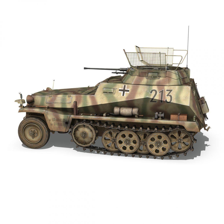 sd.kfz 250/9 – reconnaissance halftruck – 116pzdiv 3d model 3ds fbx c4d lwo obj 300376